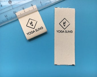 500 Loop fold cotton labels, cotton printing tags, fabric tags, clothing tags, printing tags, cotton labels custom