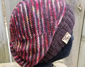 Hand knit Slouchy Sockhead Merino Cashmere OOAK
