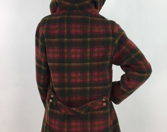1960s plaid jacket/60s plaid sherpa lined jacket