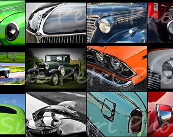 12 Classic Car Photos, Hotrod Photos, Classic Car Prints, Vintage Car Photo, Classic Car Photo Set, Color Photography, Cars
