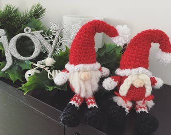 Fits in baby hand newborn size shy gnome,boy,girl,red,white,christmas,holidays,coming home,photo prop,gift idea,ready to ship