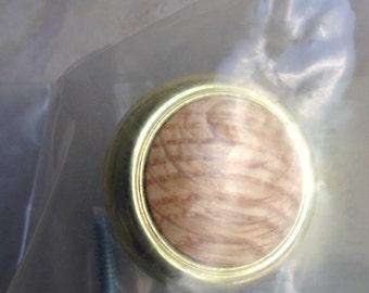 Brass Oak Knob Wood Pull / Liberty Metal Hardware New in Bag Unused - #5235