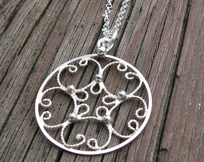 Everday Filigree.  A Sterling Necklace.