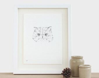 Cat Original Drawing Bespoke Cat Kitten Kitty Pet Animal Feline Drawing Illustration