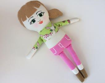 Peggy Sue Handmade Cloth Doll