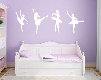 Ballerina Wall Decals, Dance wall decals, Ballerina dancer wall decals, Ballerina wall art, Nursery wall decal, Dance wall sticker DB210