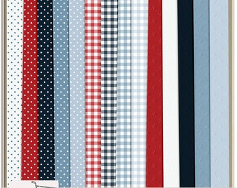 Firecracker 4th of July Digital Scrapbook Paper Pack