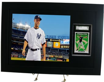 SGC Sports Card Frame Display with 8 x 10 Horizontal Photo Opening (New-All Black Design)