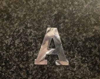 """2"""" tall Aluminum Diamond Plate Letters house font /  2 inch Letters / Price per letter"""