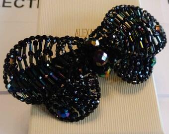Alexandre de Paris Black Butterfly Barrette