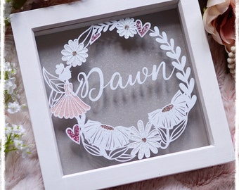 Fairy Name Wreath, Baby Girl Gift, Nursey Decor