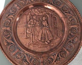 Vintage copper decorative plate. Peerage repousse copper plate. & Peerage copper   Etsy
