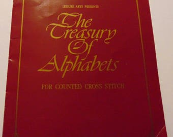 "Counted Cross Stitch booklet ""The Treasury of Alphabet"" 1989"