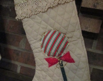Quilted Handmade Christmas Stockings, personalized, OOAK, appliqued