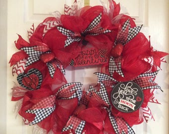 Front Door Wreath, Valentines Wreath
