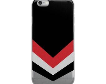 iPhone Case, Minimal Design, Black Red, VANISHING POINT, iPhone Accessories, Stripes, Retro, Stylish Phone Case, Design Case, Gift