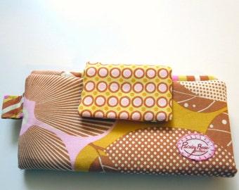 Mustard and Pink Honeycomb Wallet