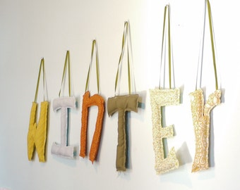 Handmade Hanging Letters 10""