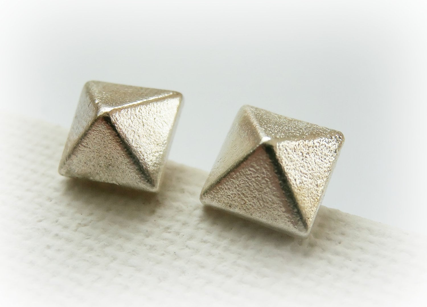 stud pyramid simple studs watermark earrings craftea cafe diy