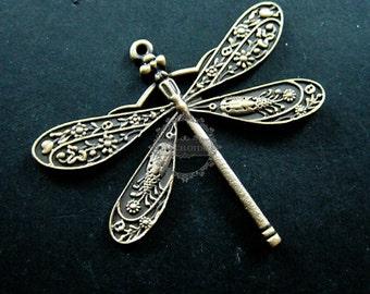 6pcs 40x50mm vintage style antiqued bronze big droganfly DIY pendant charm supplies 1810384
