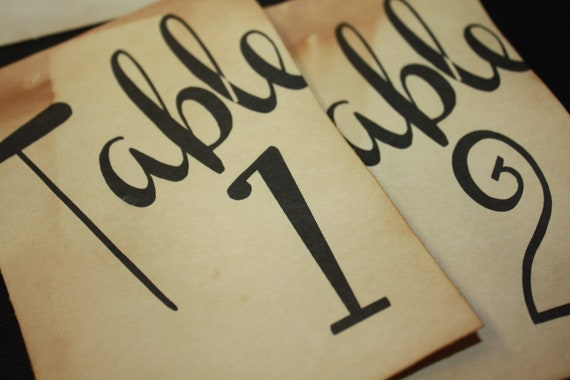 Choose Your Quantity 4 x 6  Table Number Cards