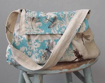 Dragonfly Shoulder Bag - - 3 Pockets - - Key Fob