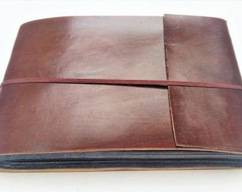 Leather Photo Album Scrapbook