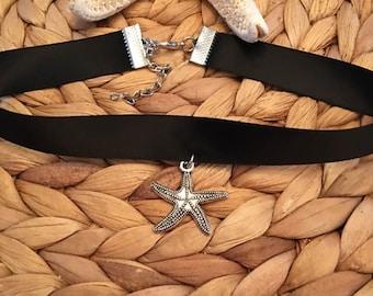 SALE~ Starfish Ribbon Choker,Jewelry,Necklace,Coastal Lovers