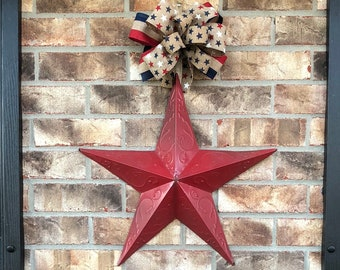 Weekend Sale!! Fourth of July door hanger,Fourth of July door decoration,Patriotic Star