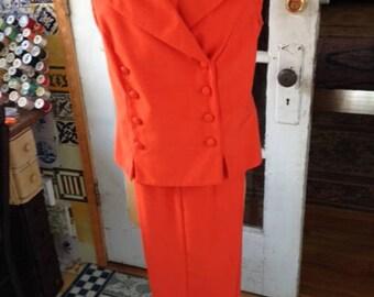80's orange pantsuit, Sag Harbor brand size 12