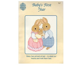 Baby's First Year Cross Stitch Booklet, Gloria & Pat Cross Stitch Booklet, Baby Cross Stitch Patterns, Children's Patterns, NewYorkTreasures