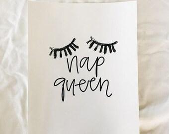 Nap queen print (8x10)