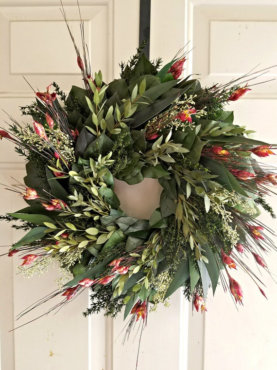 Reserved for Donna - Preserved fall wreath, eucalyptus wreath, leaf wreath, foliage wreath, gift wreath, natural wreath