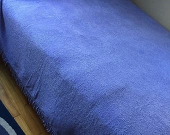 Vintage Lavender Chenille Bedspread Thin Stripe
