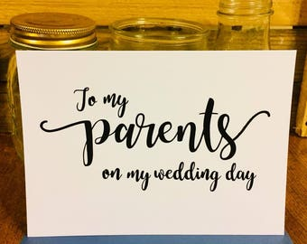 To My Parents On My Wedding Day