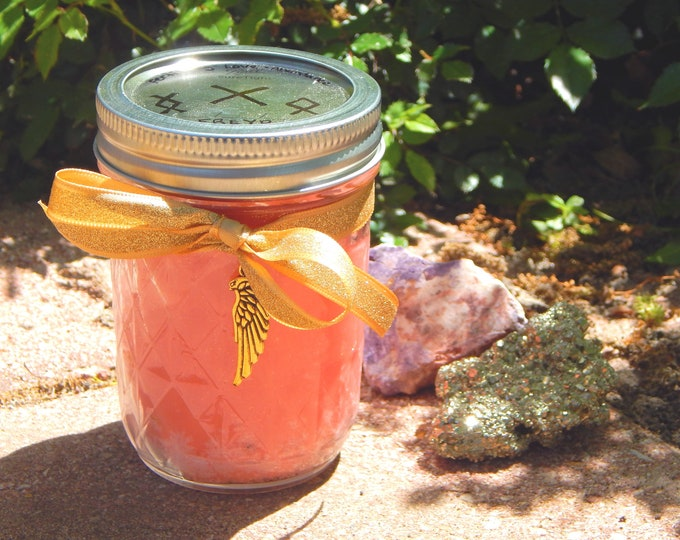 GODDESS FREYA Ritual Jar Candle Prayer candle Freyja - 100% Hand-crafted with soy wax, herbs and essential oils