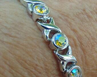 Rainbow, Crystal Stone, Bracelet, Shipped Free