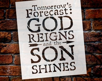 Tomorrow's Forecast - Word Stencil - Select Size - STCL1340  by StudioR12