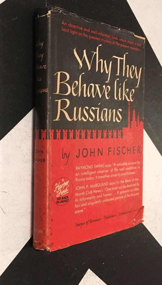 Why They Behave Like Russians by John Fischer vintage cold war soviet non-fiction red black book (Hardcover, 1947)