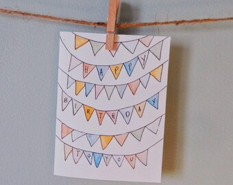 Flags B-day Card