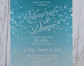 Rehearsal Dinner Invitation. Set starts with 25 cards including envelopes!