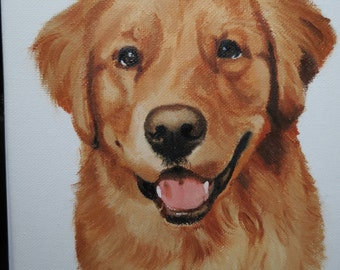 Golden Retriever Original Oil Painting 8 x 10 inches Made to Order You Provide The Pictue or Idea and I Will Make It For You