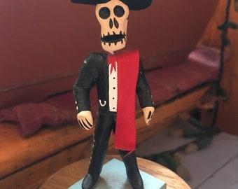 Mexican Mariachi Day of the Dead Figurine, Dia de los Muertos