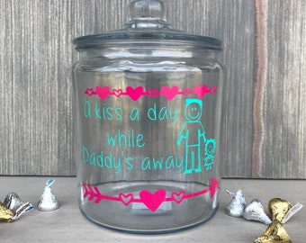 Kiss Jar, Deployment Countdown, A Kiss A Day While Daddy's Away