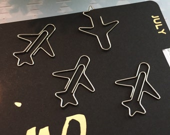 Airplane Paperclip Set
