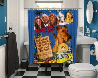 Irish Terrier Art Shower Curtain, Dog Shower Curtains, Bathroom Decor - The Wizard of Oz Movie Poster