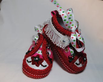 X-Mas Joy Girl's Baby Shoes 6-9 months