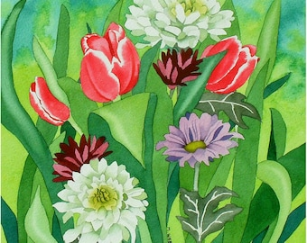 Tulips and Crysanthemums