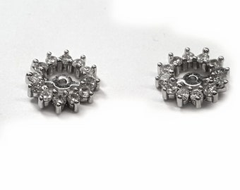 Diamond earring jackets 43pts. t.w for stud earrings