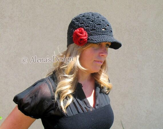 Crochet Pattern 168 - Crochet Hat Pattern Ellen Visor Hat - Crochet Pattern Women Hat Toddler Child Teen Adult Autumn Girls Ladies Lace Hat